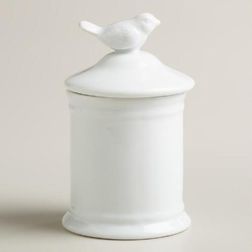 Small Ceramic Bird Canister