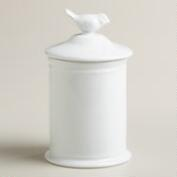 Ceramic Bird Medium Canister