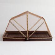 Rectangular Bamboo Dome, Espresso