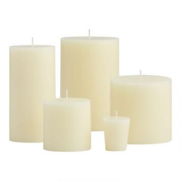 Ivory Unscented Candle Collection