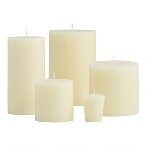 Ivory Unscented Candles