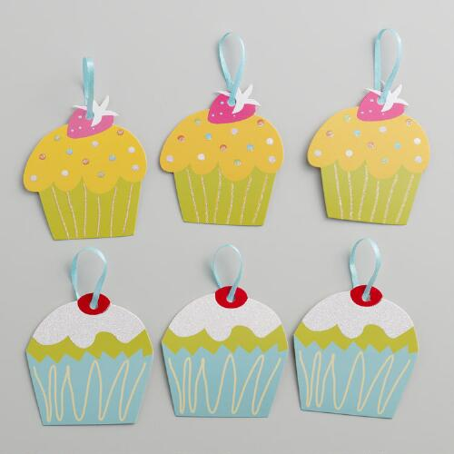 Birthday Cupcake Gift Tags, Set of 2