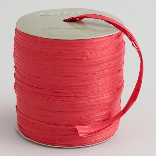 Red Multi-Tie Raffia