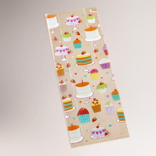 Birthday Cupcake Treat Bags, 8-Pack