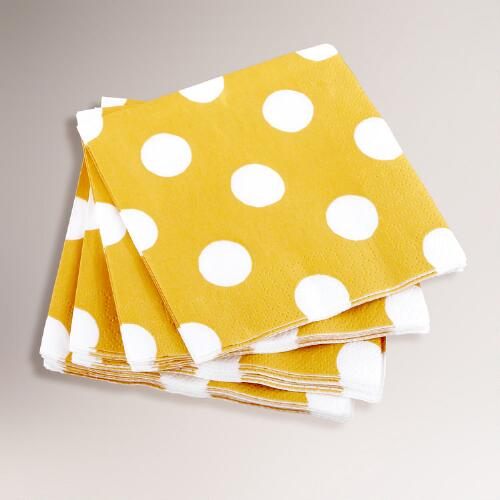 16-ct. Orange Dot Beverage Napkins, Set of 2