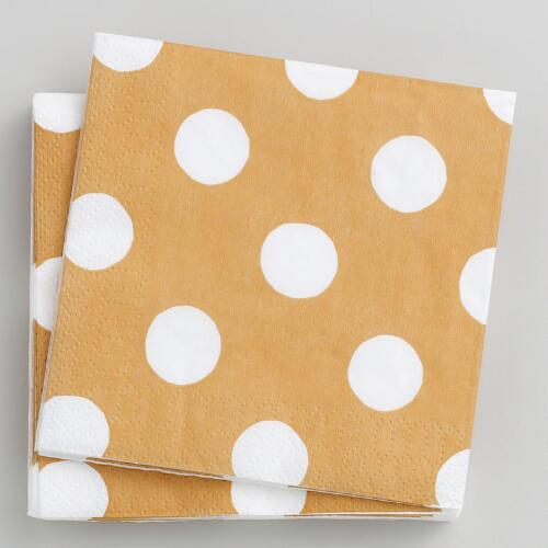 16-ct. Mimosa Dot Beverage Napkins, Set of 2