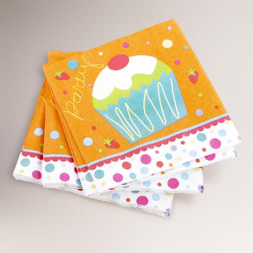 16-ct. Birthday Cupcake Beverage Napkins, Set of 2