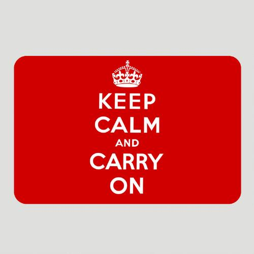 Red Keep Calm and Carry On Cushioned Floor Mat