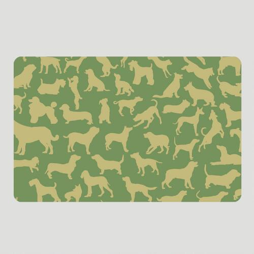 Green Dogs at Play Cushioned Floor Mat