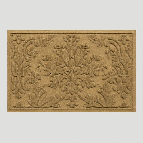 Flax Brocade WaterGuard Doormat