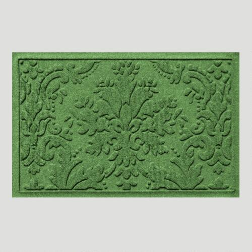 Light Green Brocade WaterGuard Doormat
