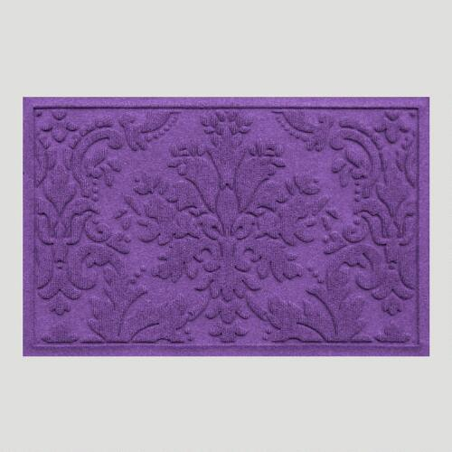 Purple Brocade WaterGuard Doormat