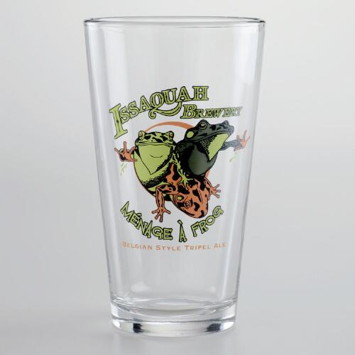 Menage A Frog Pint Glasses, Set of 2