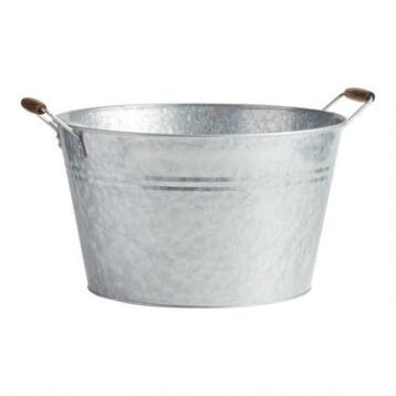 Galvanized Party Tub
