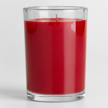 Asian Poppy Filled Jar Candle