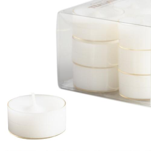 Clear Cup Tealight Candles, 12-Pack