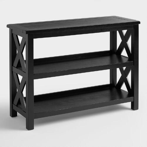 Antique Black Verona Two-Shelf Bookshelf
