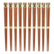 10-Pack Brown Ironwood Chopsticks, Set of 2