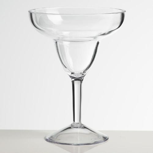 Acrylic Margarita Glasses, Set of 4