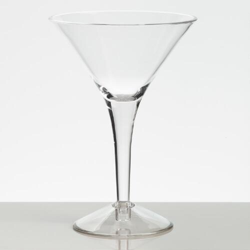 Acrylic Martini Glasses, Set of 4