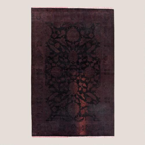 Plum Antique Knotted Rug