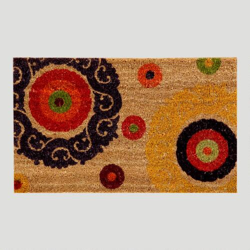 Natural Suzani Dot Doormat
