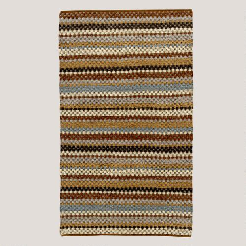 Chunky Striped Jute Hemp Rug