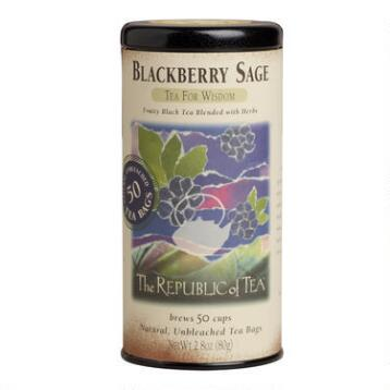 The Republic of Tea Blackberry Sage Black Tea, 50-Count