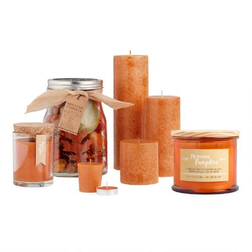 Mexican Pumpkin Candles