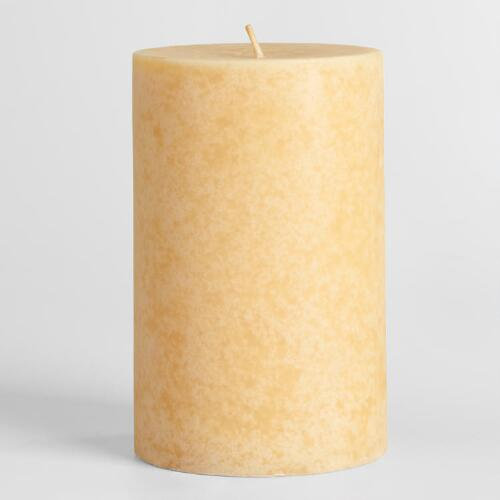 "4"" x 6"" Indian Sandalwood Pillar Candle"