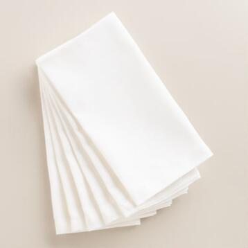 White Buffet Napkin, Set of 6