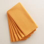 Golden Yellow Buffet Napkins, Set of 6