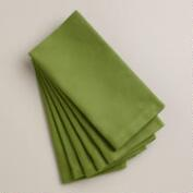 Fern Green Buffet Napkins, Set of 6
