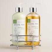 White Tea Jasmine & Ylang Liquid Soap and Lotion Caddy