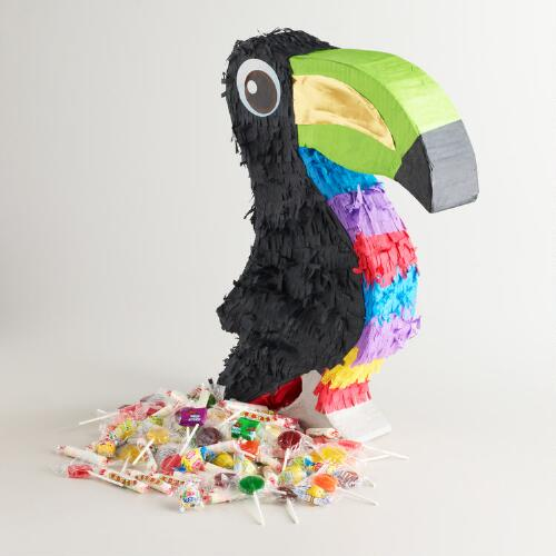 Toucan Piñata with Candy