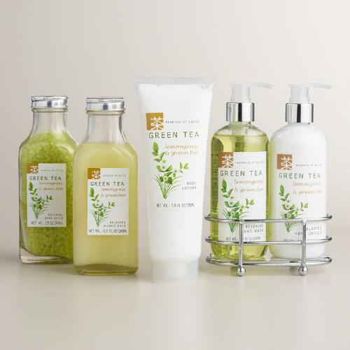 Green Tea and Lemongrass Bath and Body Collection