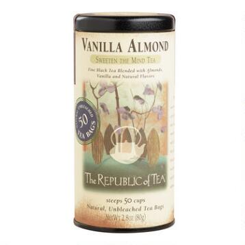 The Republic of Tea Vanilla Almond Black Tea, 50 Count Tin