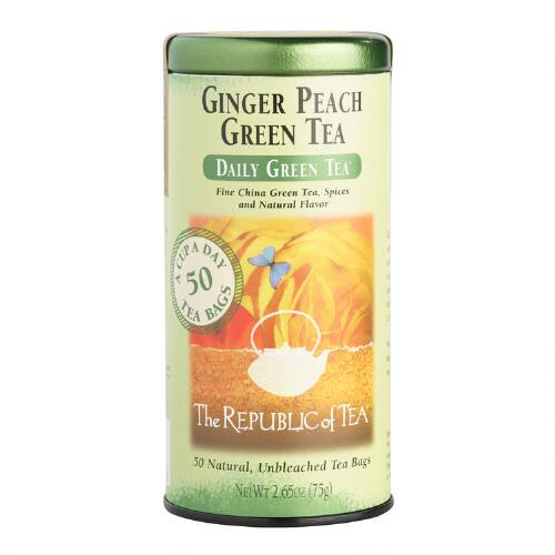 The Republic of Tea Ginger Peach Tea, 50-Count