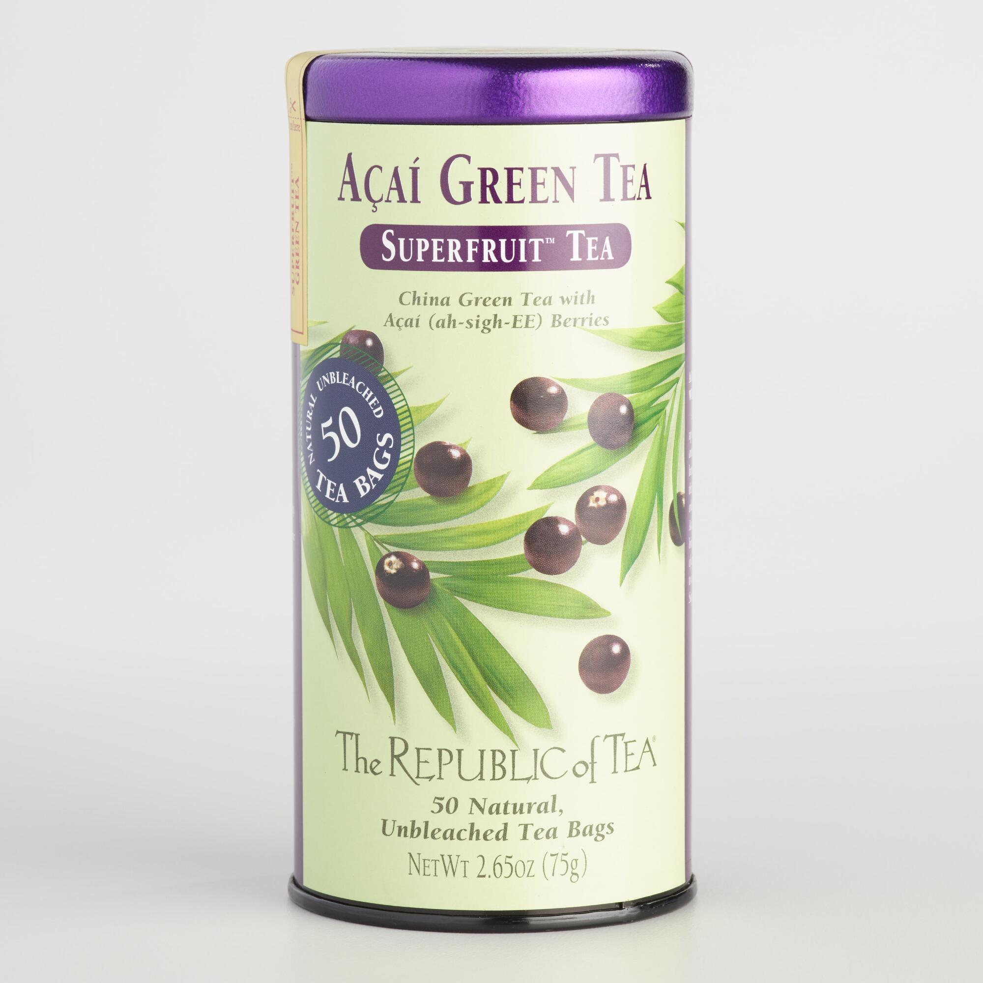 Acai green tea benefits