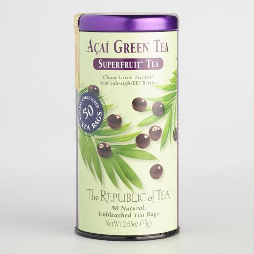 The Republic of Tea Acai Green Tea, 50-Count