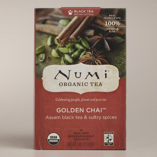 Numi Organic Golden Chai Tea, Set of 6