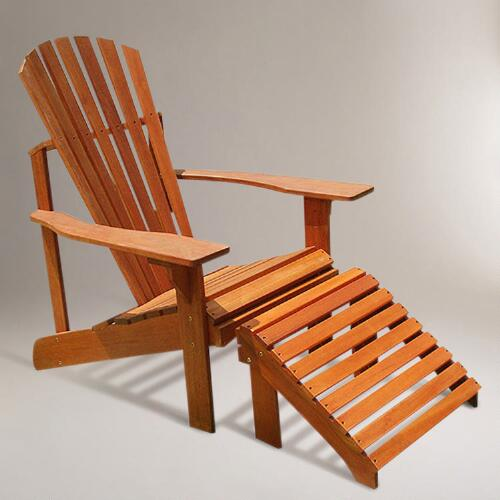 Adirondack Chair with Stool