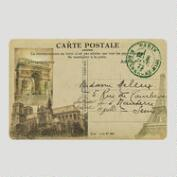 Postcard of Paris Cushioned Floor Mat
