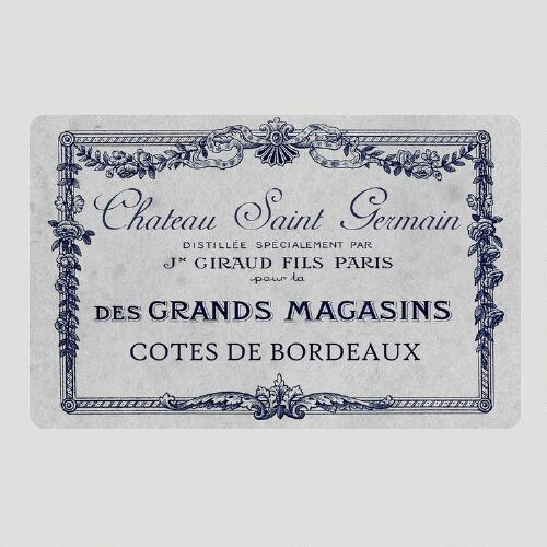 French Wine Label Cushioned Floor Mat