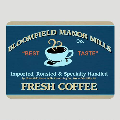 Retro Coffee Label Cushioned Floor Mat
