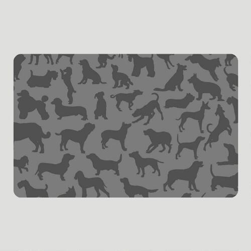 Charcoal Dogs at Play Cushioned Floor Mat