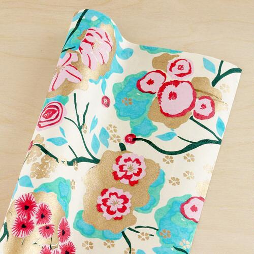 Pink & Turquoise Handmade Gift Wrap