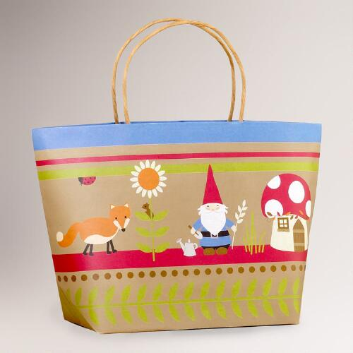 Kraft Fox & Gnome Market Gift Bag