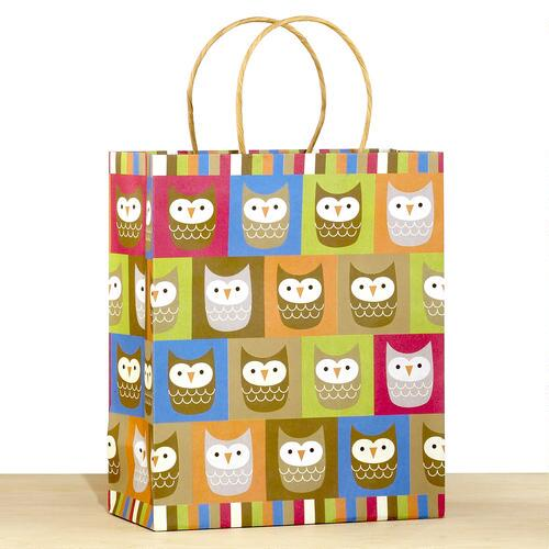Kraft All-Over Owls Large Gift Bag