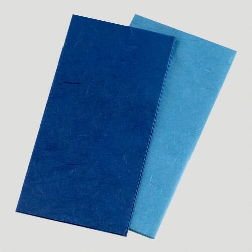 Dark & Light Blue Mulberry Tissue, Set of 2